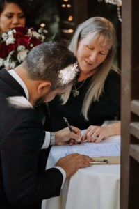 Wedding Vows Signing Utah Destination