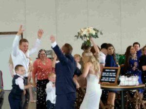 Aaron & Madeline celebrate-min